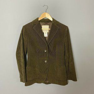 Henry Cotton's Olive Green Corduroy Blazer Jacket